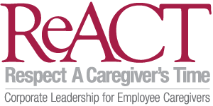 logo for ReACT: Respect a Caregiver's TIme