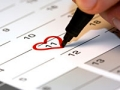 Drawing a heart on calendar