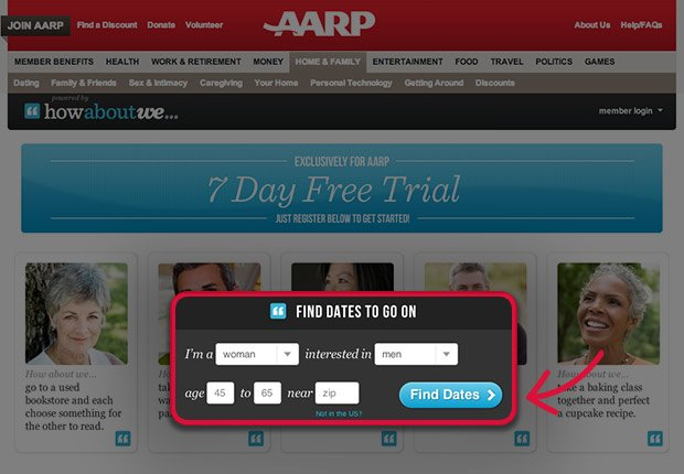 How-to guide to using AARP's dating site with How About We.