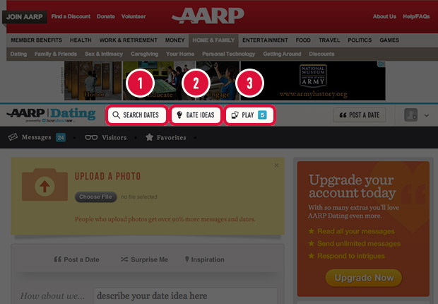 aarp dating site Aarp is a membership organization leading positive social change and delivering value to people age 50 and over at least in the world of online dating sites.