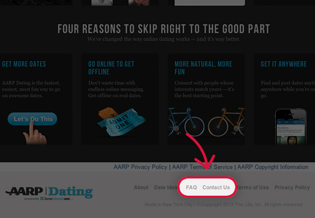 aarp dating sign in