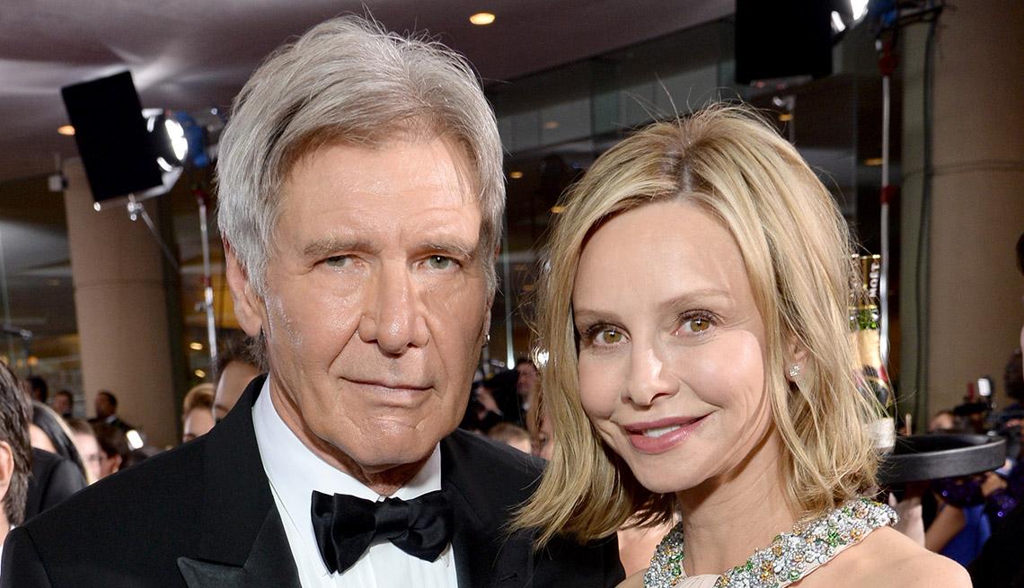 Actor Harrison Ford y Calista Flockhart - Matrimonios de famosos con una gran diferencia de edad