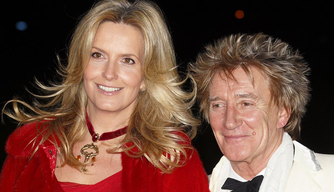Singer Rod y Wife Penny Lancaster - Matrimonios de famosos con una gran diferencia de edad