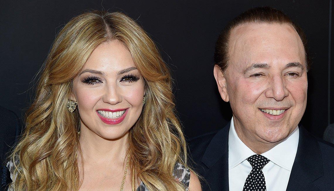 Thalia y Tommy Mottola - Matrimonios de famosos con una gran diferencia de edad