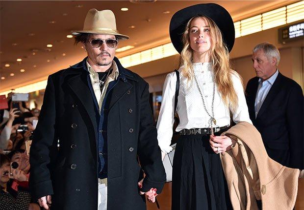 Johnny Depp y Amber Heard - Matrimonios de famosos con una gran diferencia de edad