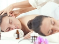 Couple massage at a spa therapy session