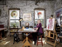 Edith Heyck in her studio.