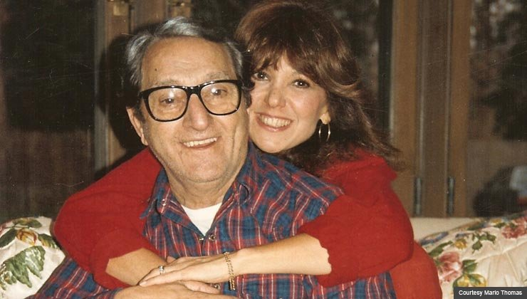 Marlo Thomas and her father, Danny Thomas