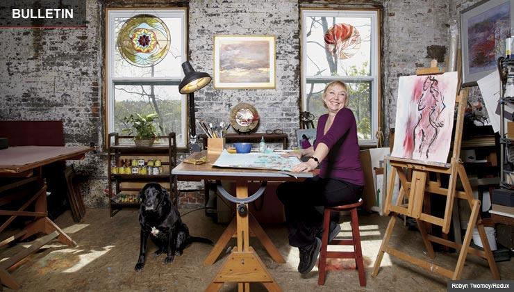 Edith Heyck in her studio.