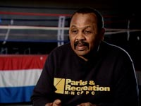 Former fighter Junious Hinton runs a boxing club.