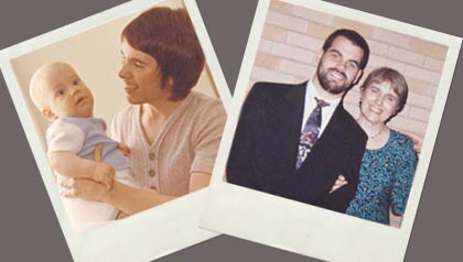 Family Polaroid photos, What My Son's Death Taught Me (Istockphoto/Courtesy Vicki Lemley)