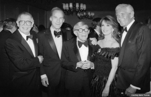 Marlo Thomas with (from left) Milton Berle, Sid Caesar, George Burns, and Jan Murray (Courtesy Marlo Thomas)