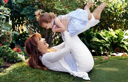 Jane Seymour playing with her grandchildren, The New Grandmother