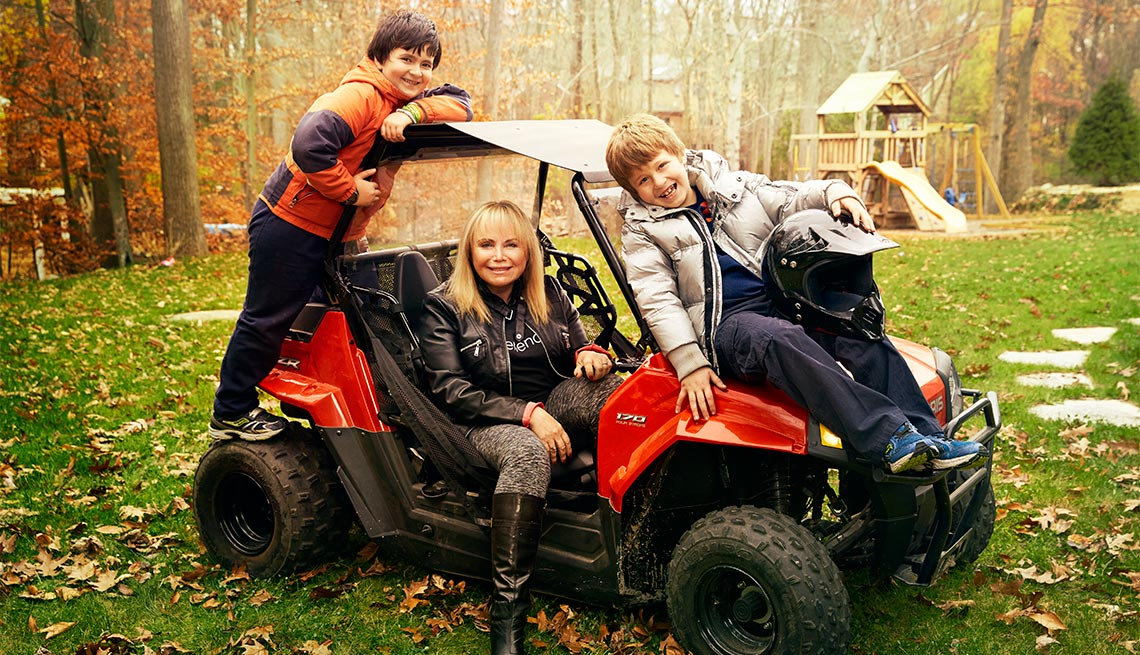 Sarajean Grainson and boys, new Moms after 50
