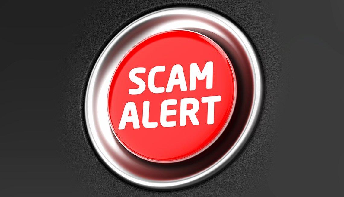 Scams that target Veterans, Scam Alert button