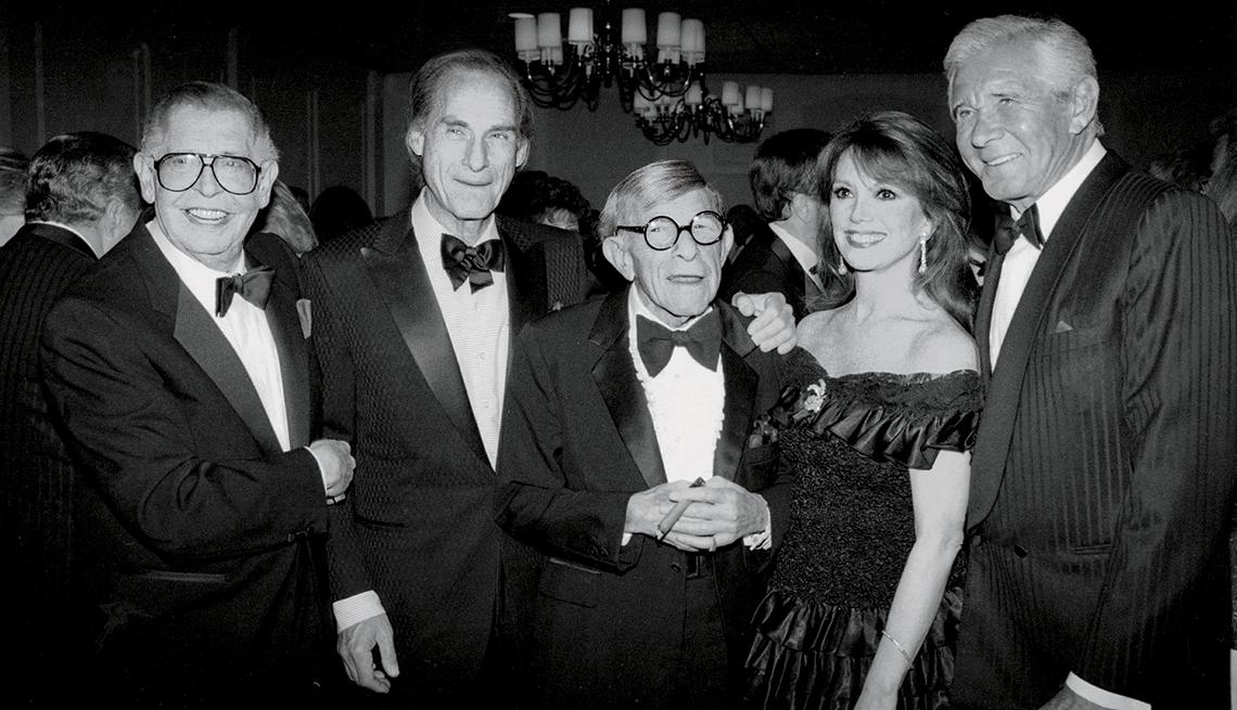 Marlo Thomas with (from left) Milton Berle, Sid Caesar, George Burns and Jan Murray. — Marlo Thomas