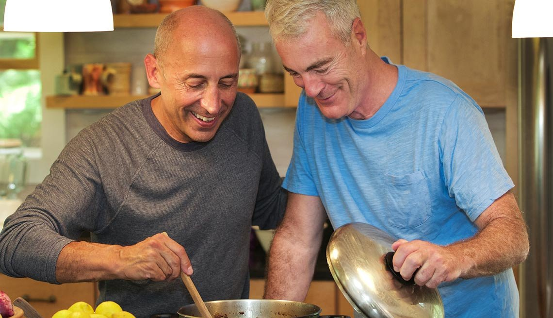 male couple cooking together, Marital Status and Medicare Eligibility