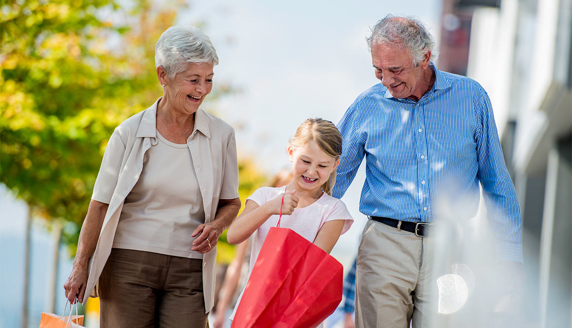 Grandparents Shopping with Their Granddaughter, Jenkins Column: Aging Is Living