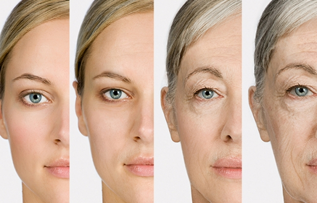 A qué edad somos oficialmente viejos - Rostro de mujer aparece de joven a viejo