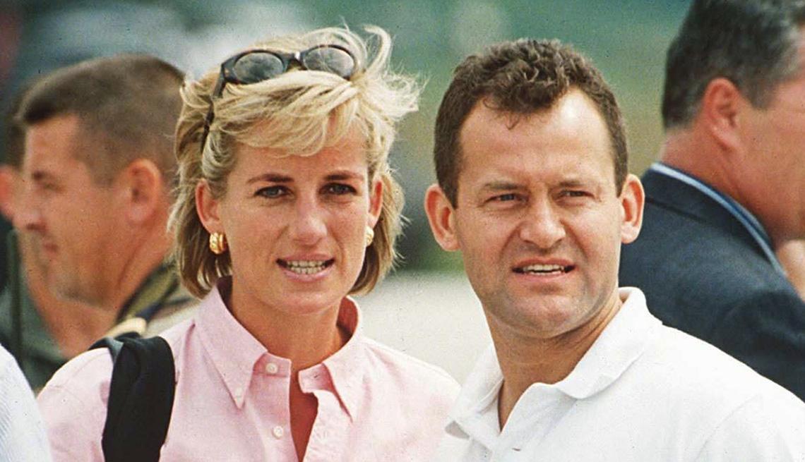 Princess Diana and her butler Paul Burrell, Bosnia, 1997.