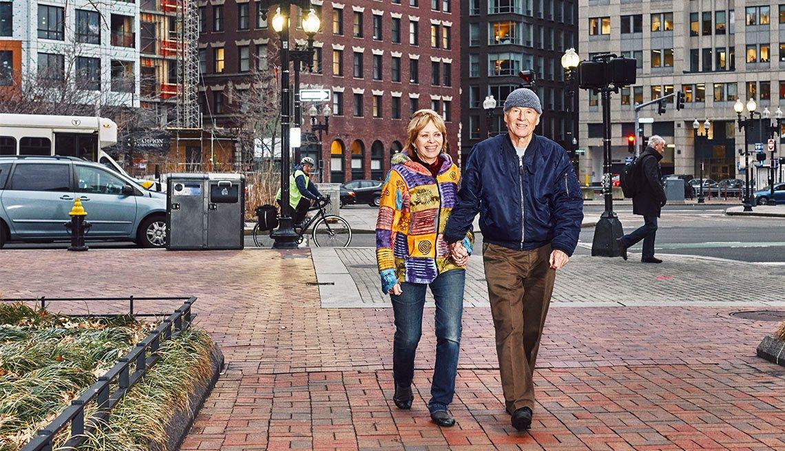 Julie Hatfield and Tim Leland