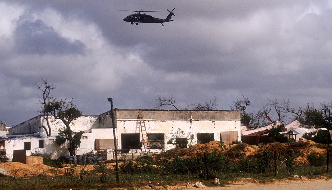 Helicóptero del ejército de Estados Unidos en Somalia.