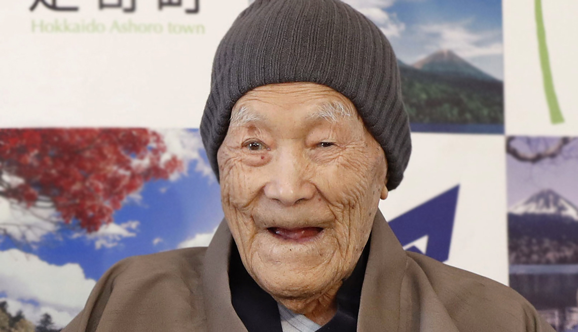 Masazo Nonaka, 112. The Guinness World Records recognizing him as the world's oldest man.