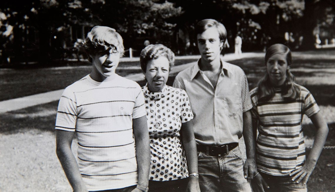 Steven Petrow with his family at Duke's university