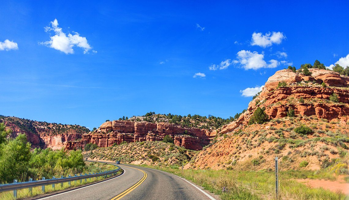 Mountain road in Utah, USA