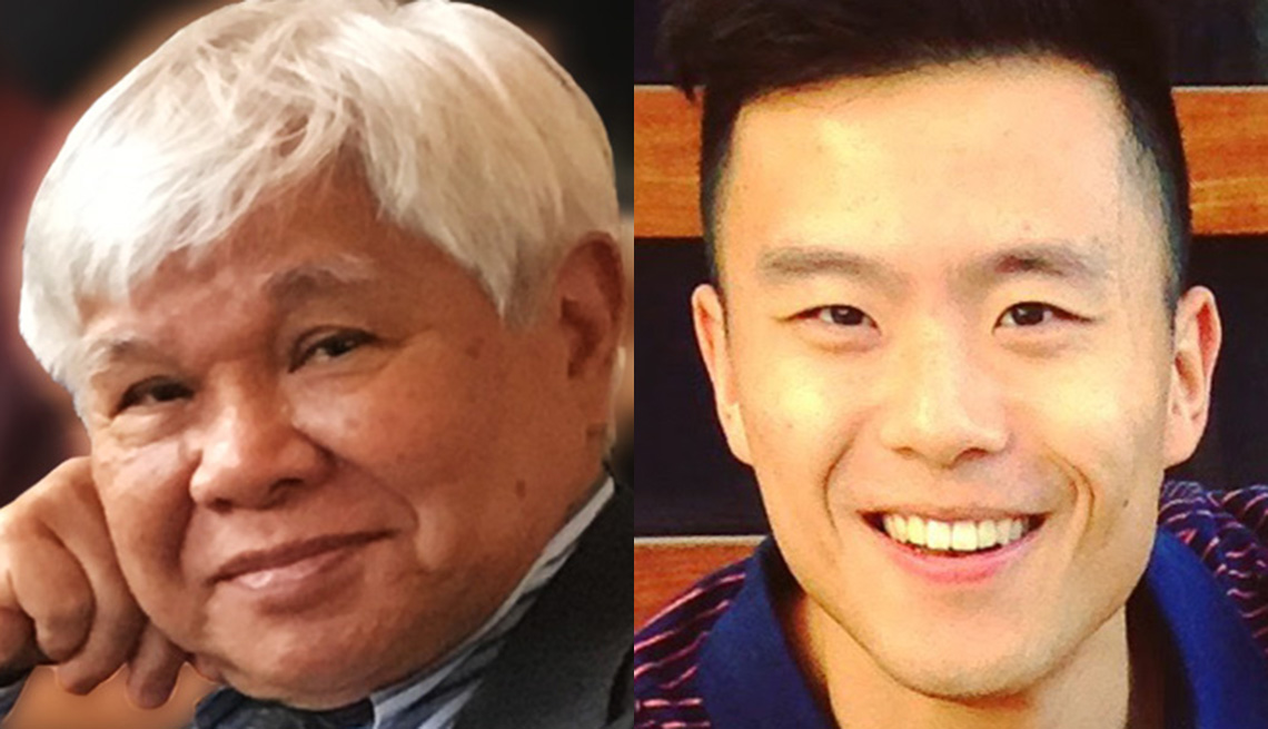 Jon Melegrito pictured left and Denny Chan pictured right are the two 2018 AARP AAPI Hero Award winners