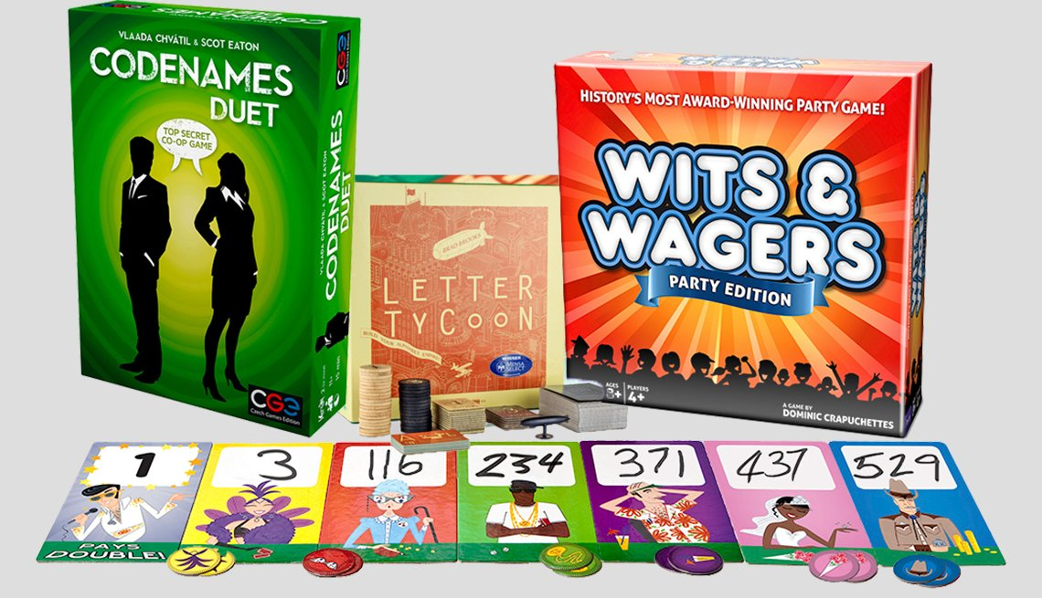 Various board game boxes