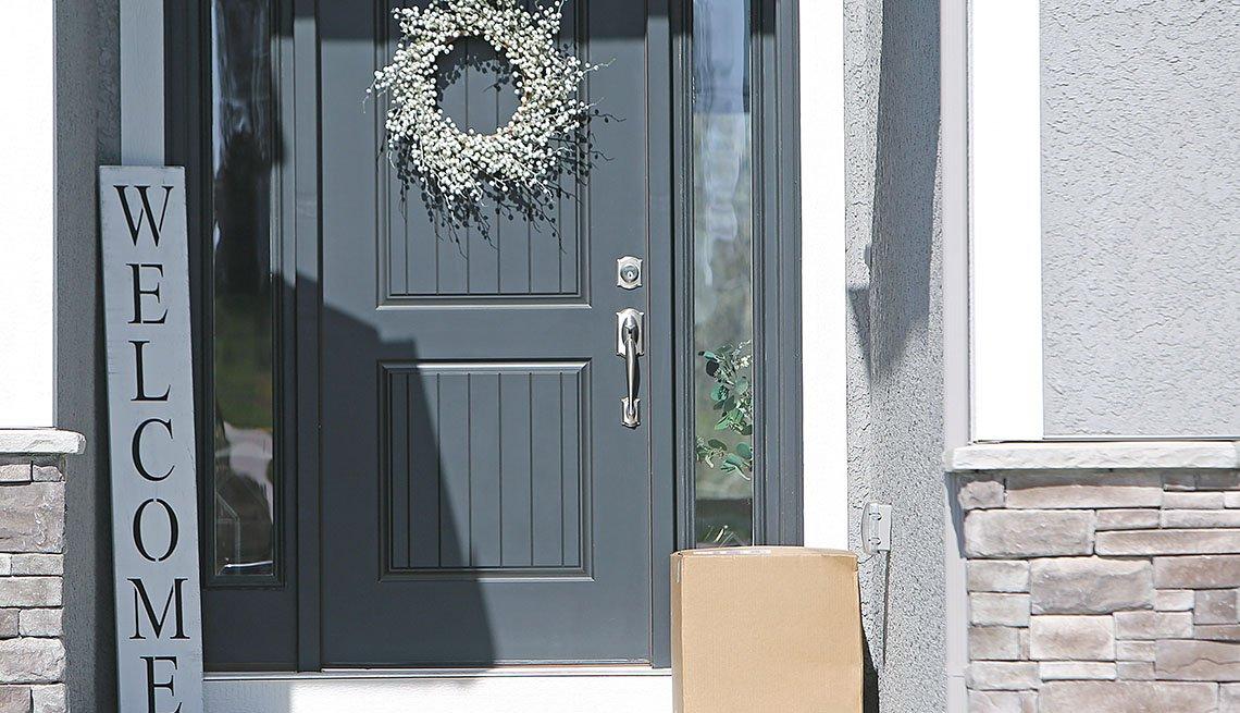 package at front door