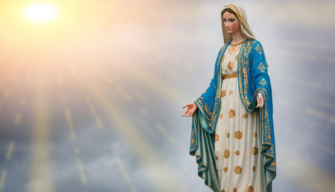 Imagen de la Virgen María.