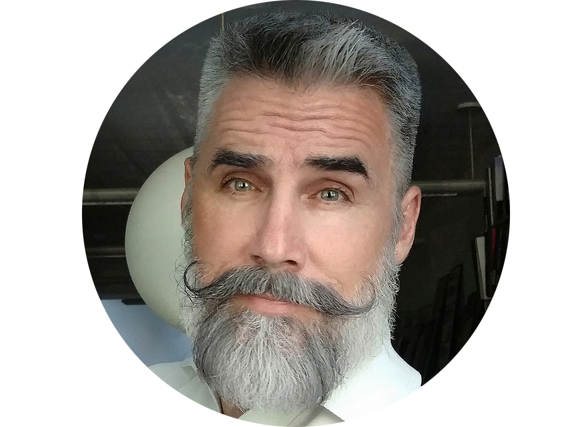 Greg Berzinsky with a stylish beard