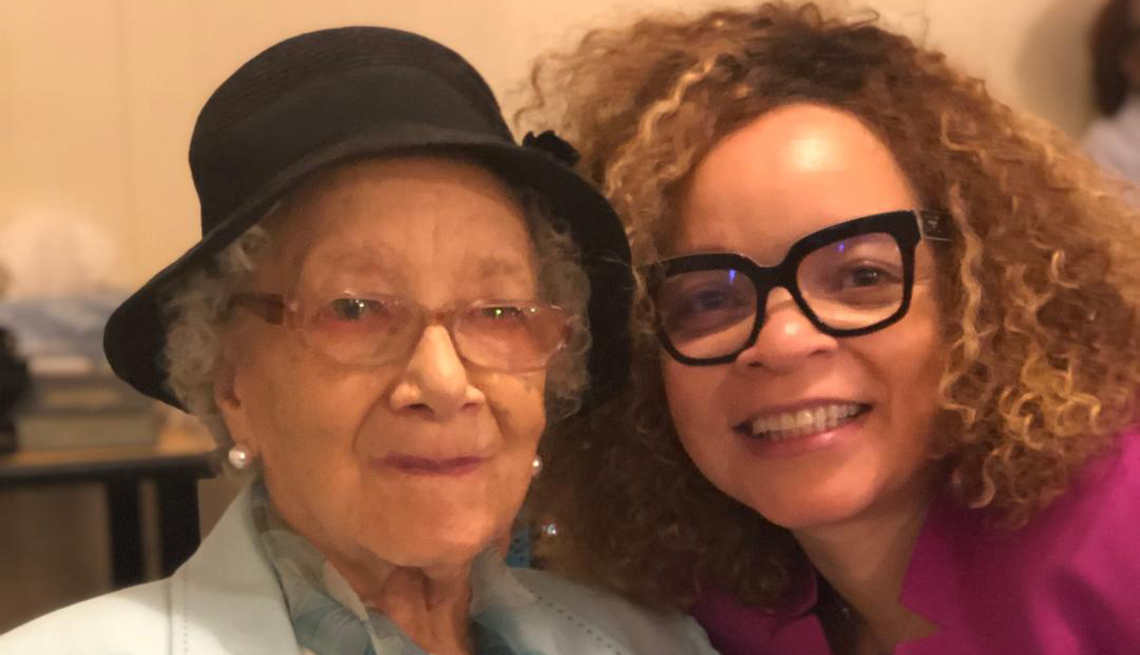 Ruth Carter and her mother