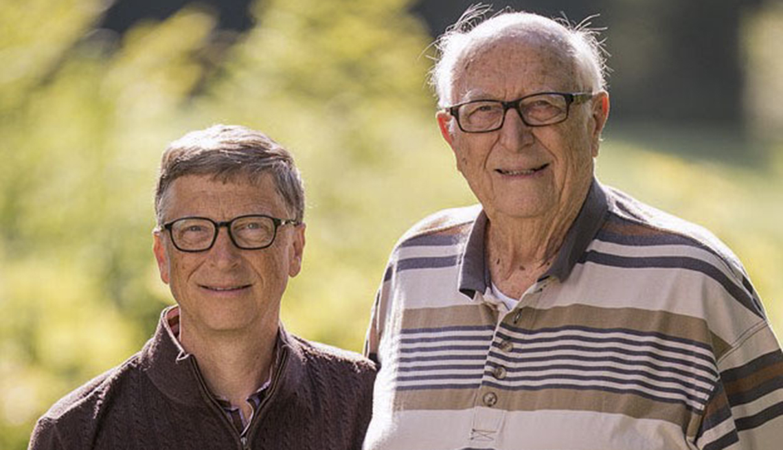 bill gates and his father