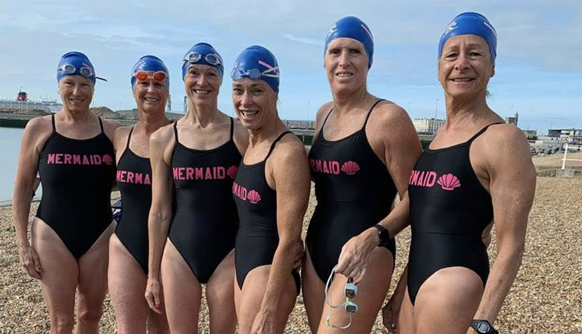 Members of the 'Mighty Mermaids' pictured