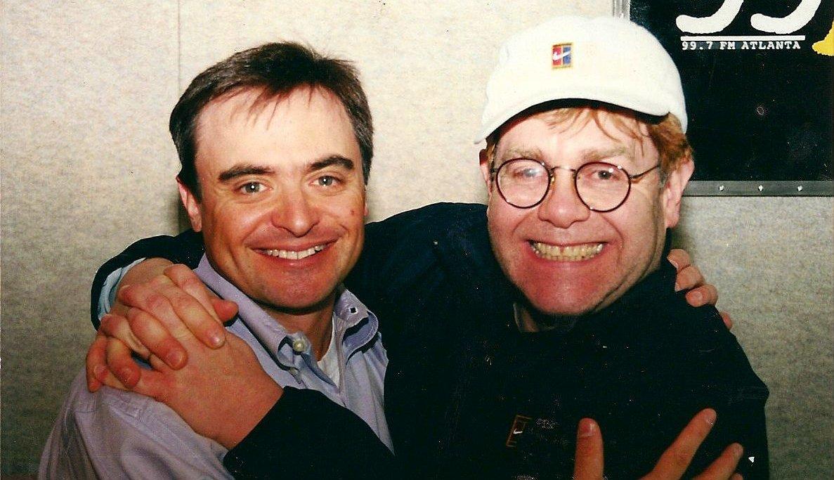 Older photo of Jimmy Baron and Elton John