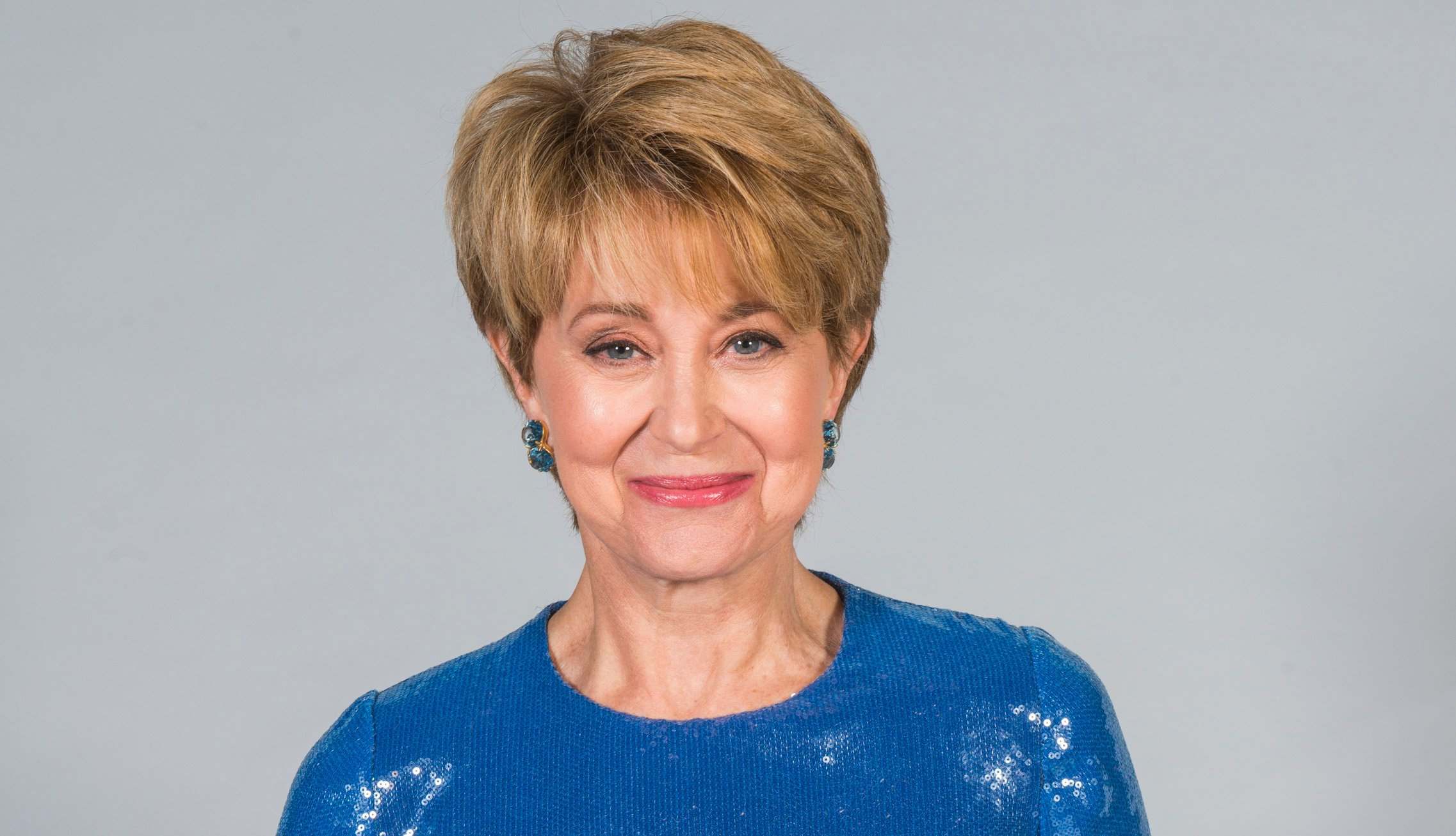Jane Pauley poses for portrait at The 45th Daytime Emmy Awards