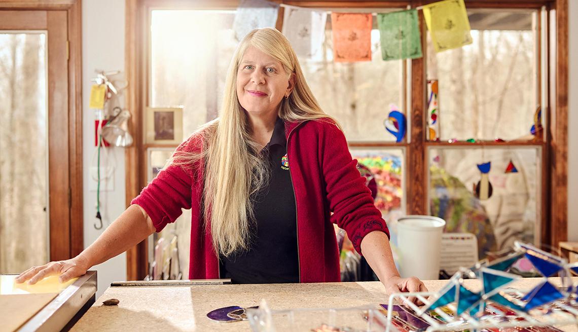 Jill Bolte Taylor in her studio