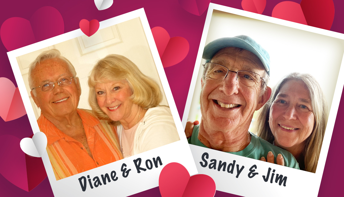 Couples Diane and Ron; Sandy and Jim