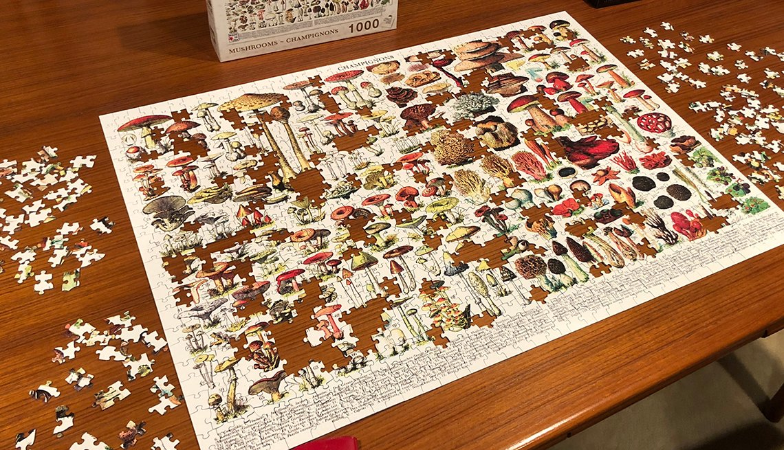 A mushrooms-champignons puzzle