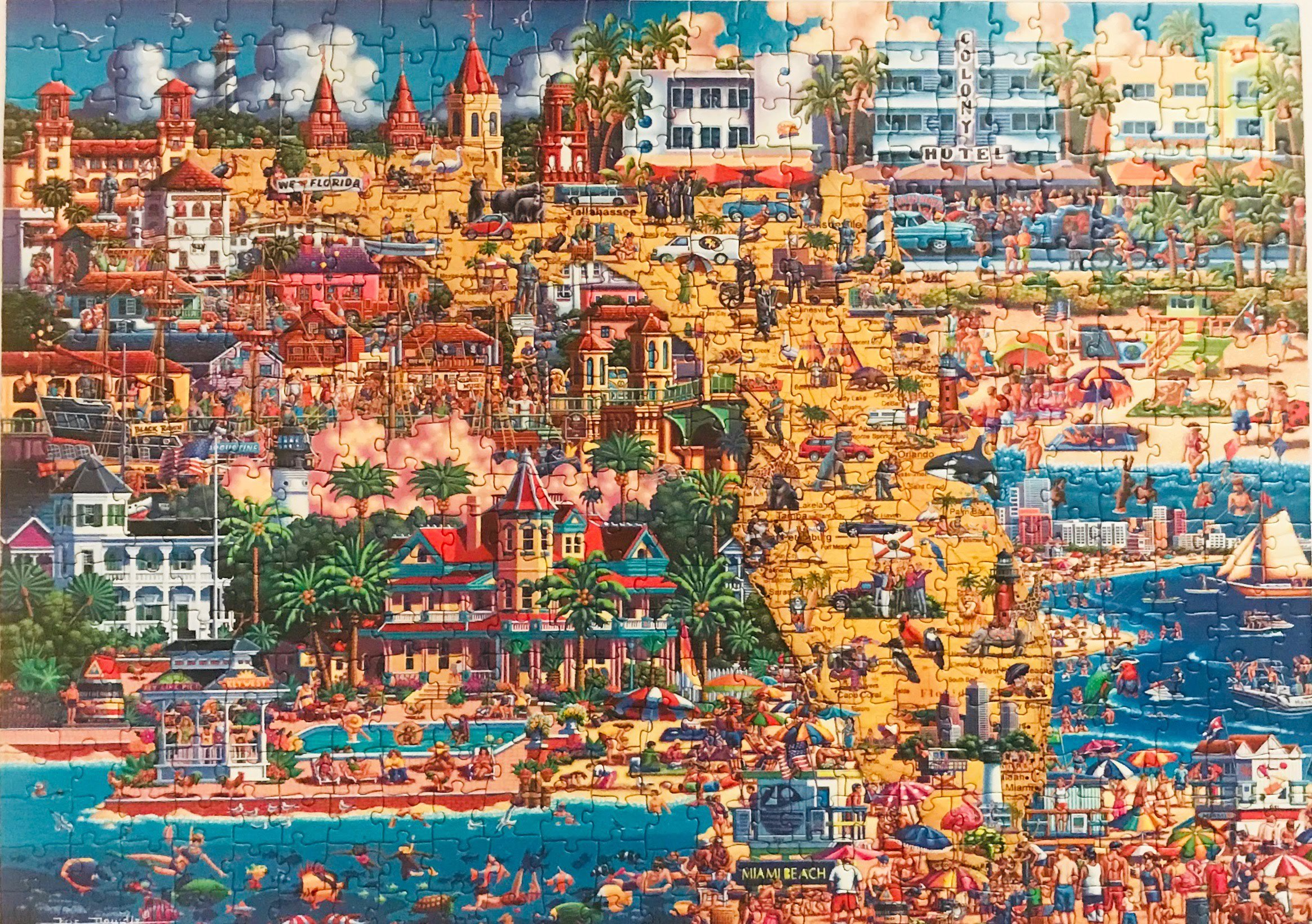 A large puzzle of a beach scene