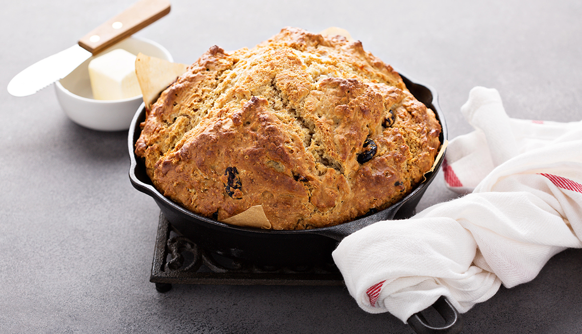 Irish soda bread and butter