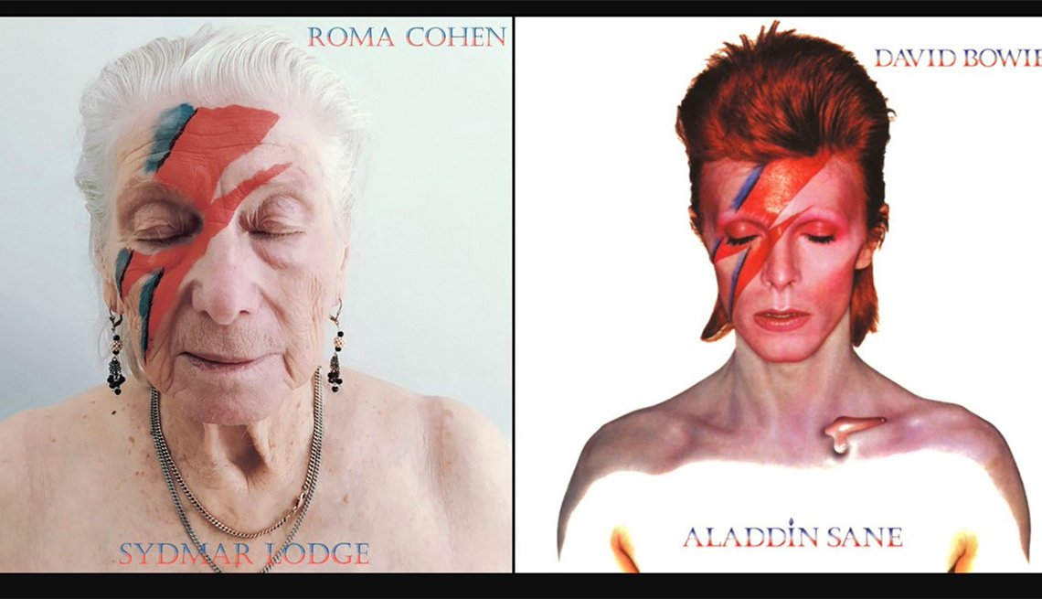 Roma Cohen remake of David Bowie album cover