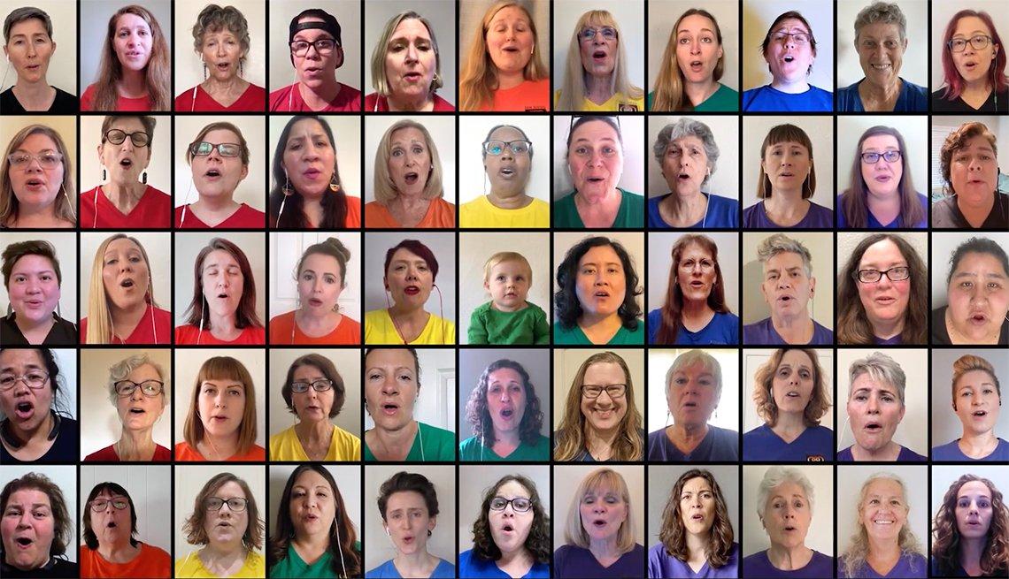 Screenshot of a Youtube video of the San Diego Women's Chorus