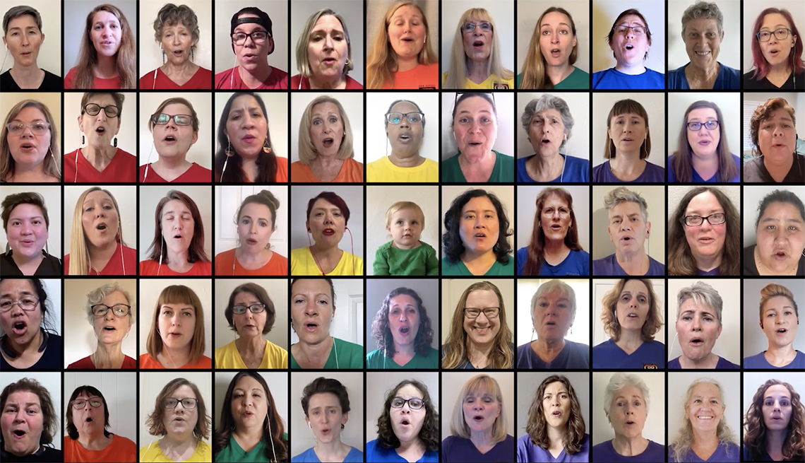 Screenshot of a Youtube video of the San Diego Women's Chorus