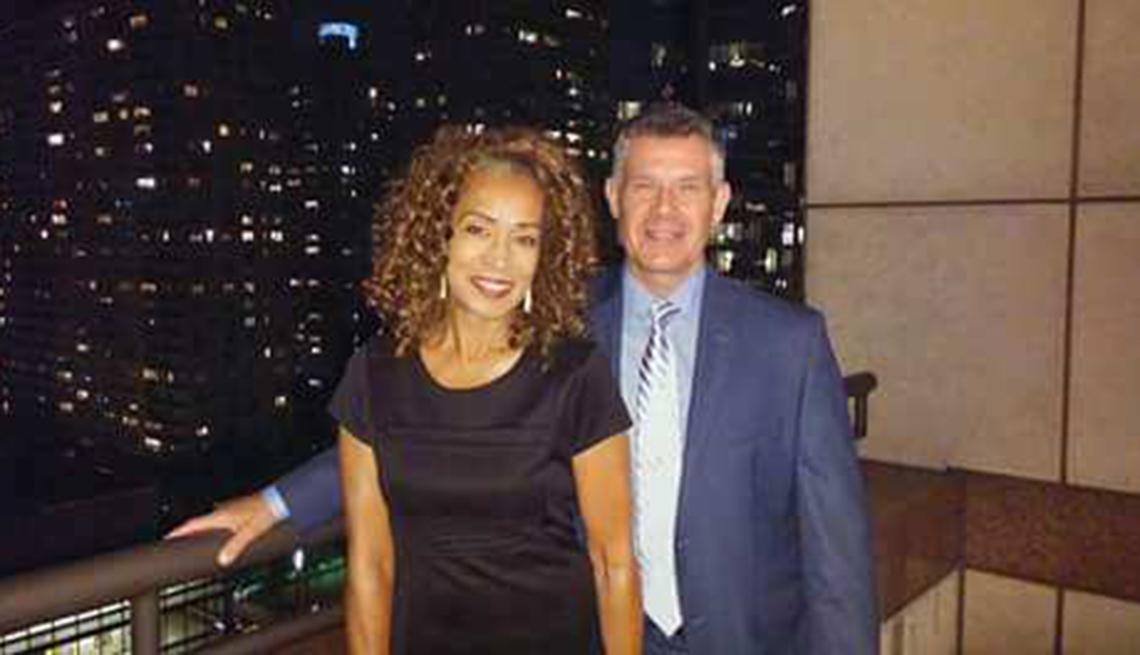 Lorna Rainey y su pareja Shawn Gianella