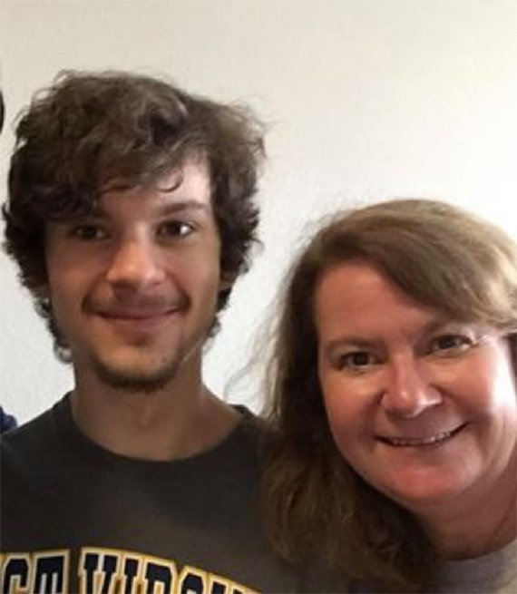 Tricia Zadjura is sending her son Jake back to college.