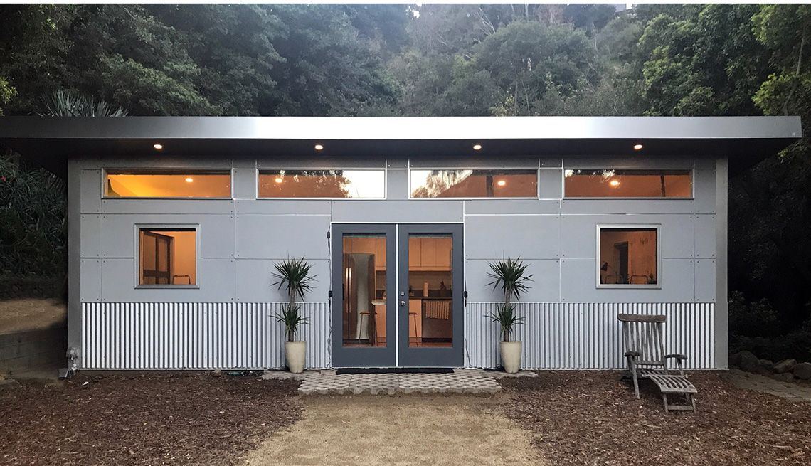 Fachada de una unidad de vivienda complementaria
